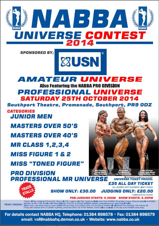 2014 nabba universe: esibizione di Carboni Maurizio.